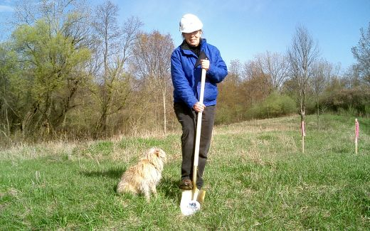 Maura breaking ground with Brilla supervising