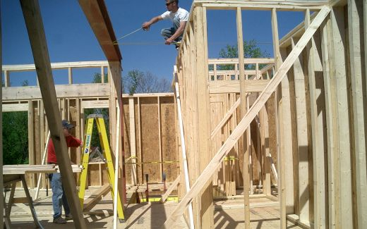 Placing second floor joists