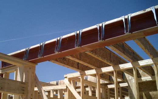 Joist hangers on beam