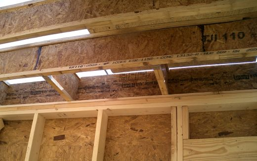 Second level subfloor installed