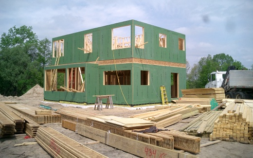 Second floor walls placed