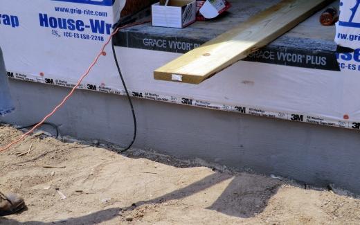 Cement foundation siding