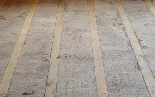 First floor concrete surface