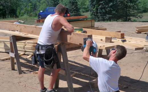 Preparing a porch post