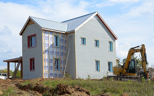Siding and septic field