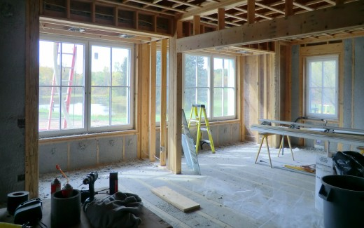 Insulation in kitchen and living area