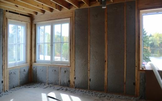 Insulation in upstairs bedroom
