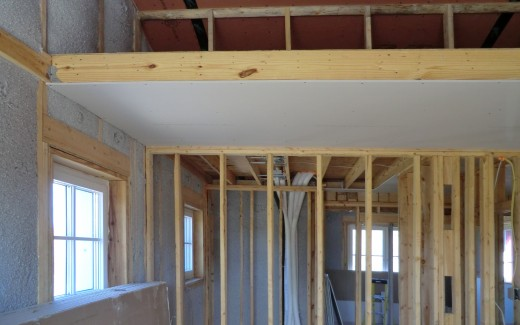 Insulation and loft drywall