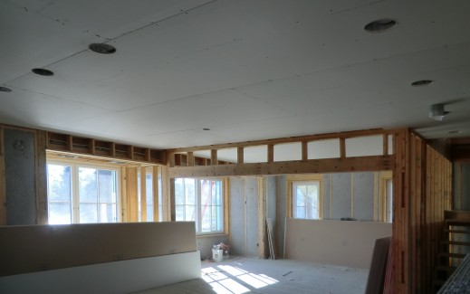 Kitchen ceiling drywall