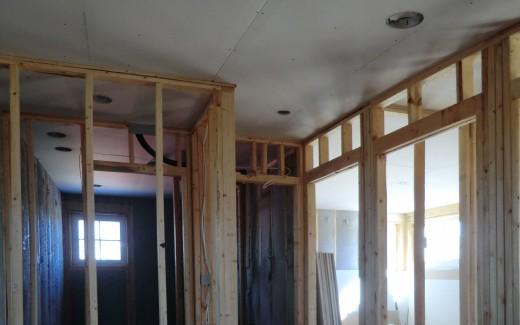 Upstairs hall drywall
