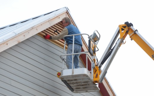 Michael working on gable feature