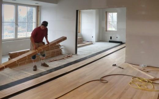 Flooring in front rooms