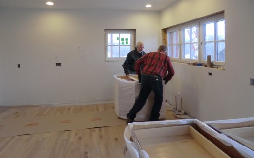 Delivery of kitchen cabinets