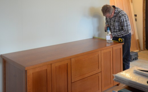 Michael working on kitchen pantry