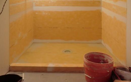 Shower lining test