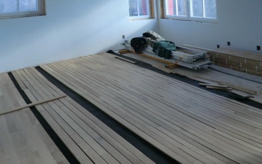 Bedroom flooring progress