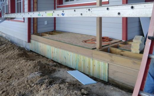 Porch grade siding