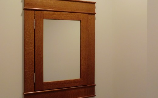 Downstairs bathroom wall cabinet