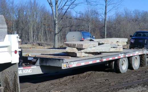 Delivery of limestone slabs
