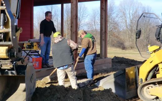 Beginning work on walkway