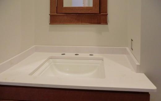 Lower bathroom vanity top