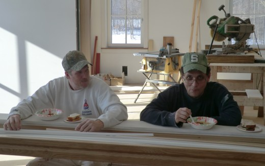 Johann and Jeff at the Passive House Sushi bar