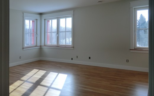 Finished bedroom floor