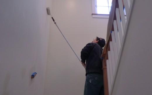 Painting stairway walls