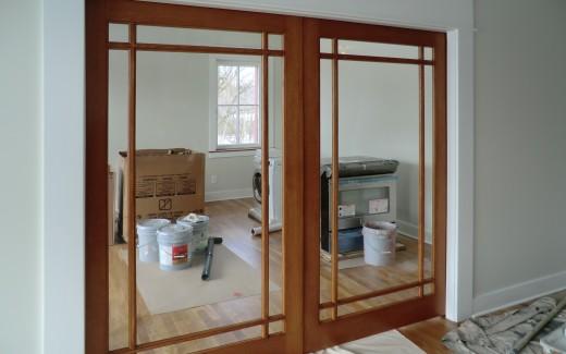 Doors to parlor