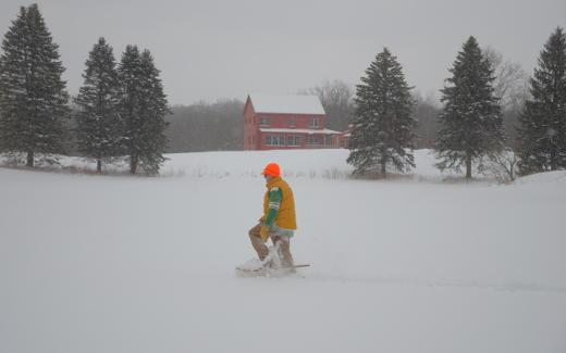 Byron Babbish snowshoeing