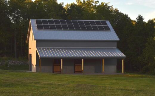 Solar array on barn